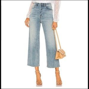 Free people button fly wide leg jeans 29